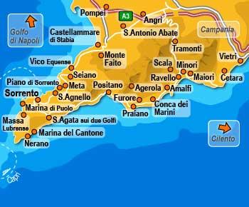 costa amalfitana mapa La Costa Amalfitana Italia, Viajar Costa de Amalfi, Rutas y  costa amalfitana mapa