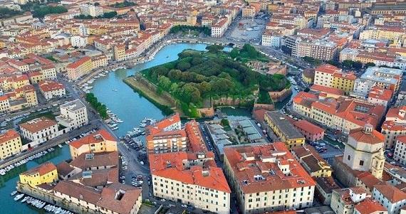 Livorno en la Región de Toscana