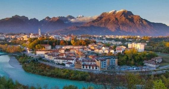 Belluno en la Región de Veneto