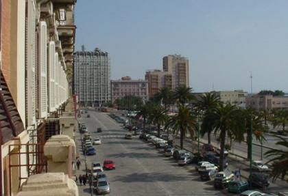Via Roma en la ciudad de Cagliari