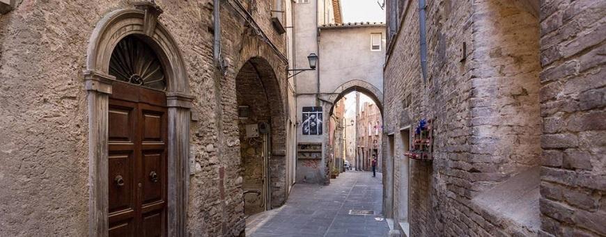 Perugia en la Región de Umbria
