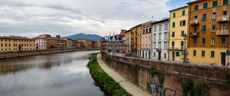 Pisa en la Región de Toscana