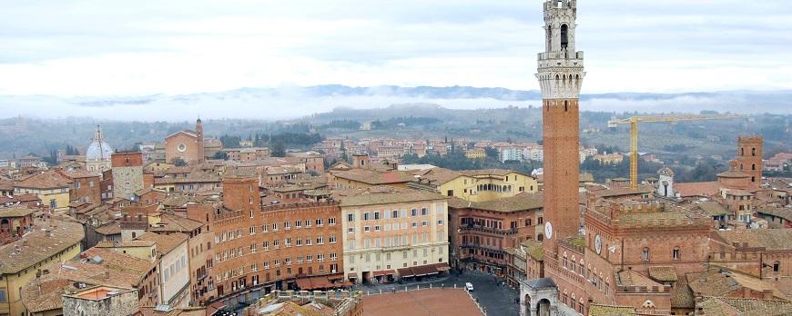 Siena en la Región de Toscana