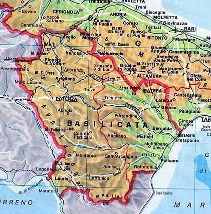 Basilicata Region of Italy Cities and Towns of Italia