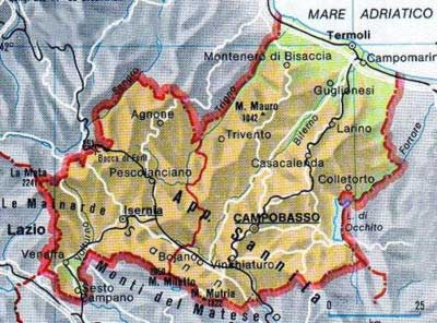 Molise Region of Italy Cities and Towns of Italia