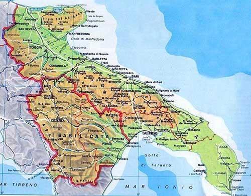 Apulia Puglia Region of Italy, Cities and Towns of Italia