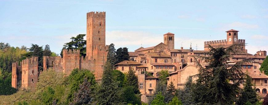 Castel Arquato en la Region de Emilia