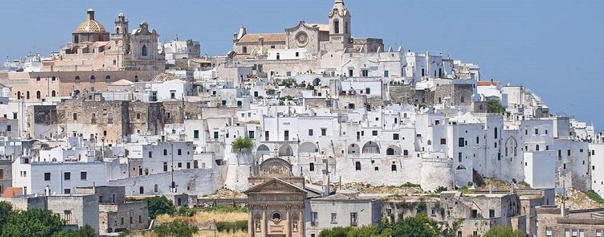 Ostuni en la Region de Puglia