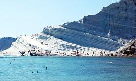 Playa de Capo Bianco en Sicilia