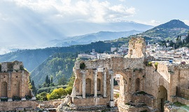 Taormina en Sicilia