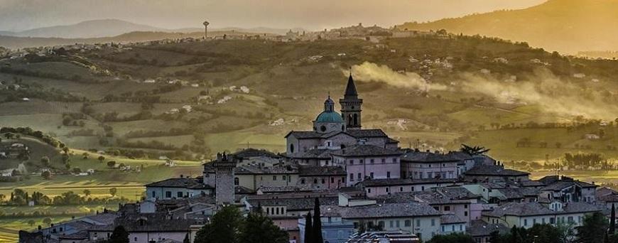 Trevi en la Region de Umbria