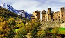 Castillos medievales en el Valle de Aosta