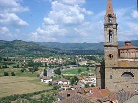 Castiglion Fiorentino en la Valdichiana, provincia de Arezzo