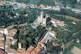 Castillo de Poppi en provincia de Arezzo