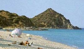 Playa en Castiadas en el Sureste de Cerdeña