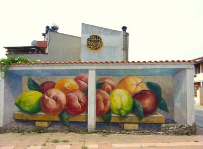 Murales tipicos de Cerdeña: localidad San Sperate
