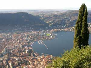 Como city in the Lombardy region in Italy