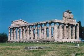 Paestum en la provincia de Salerno